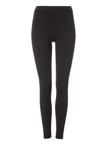 Black Plain Premium Leggings