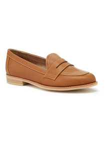 Tan Sole Comfort Loafers