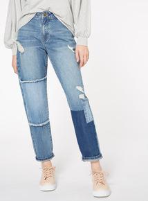 Panelled Boyfriend Jeans