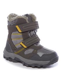 Grey Snow Boots