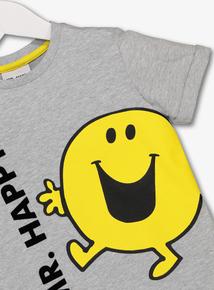 Online Exclusive Mr Men Mr Happy Grey T-Shirt (9 Months - 6 Years)