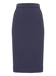 Online Exclusive Navy Pencil Skirt