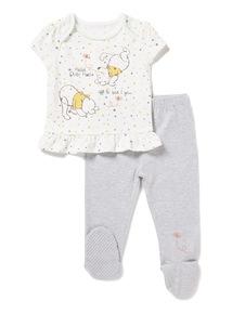 Multicoloured Disney Winnie The Pooh Pyjama Set (0- 12  months)