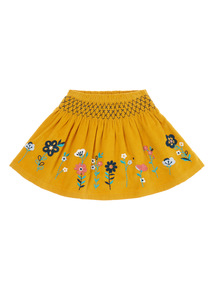 Girls Yellow Flower Border Skirt (9 months-6 years)