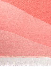 Coral Pink Blanket Scarf