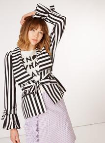 GFW Stripe Belted Jacket