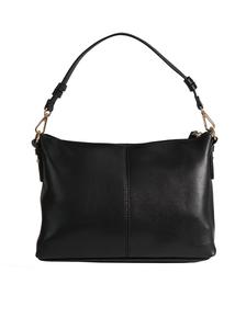 Black Classic Leather-Like Rose Gold Turn Clasp Handbag