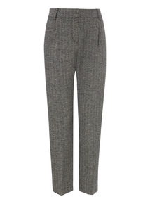 Grey Crosshatch Trousers