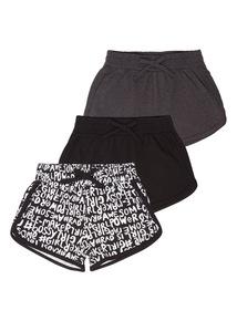 Girls Attitude Shorts 3 Pack (3 - 12 years)