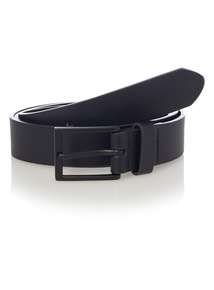 Black PU Buckle Belt