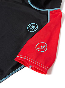 Unisex Black and Red Rash Vest (1-12 years)