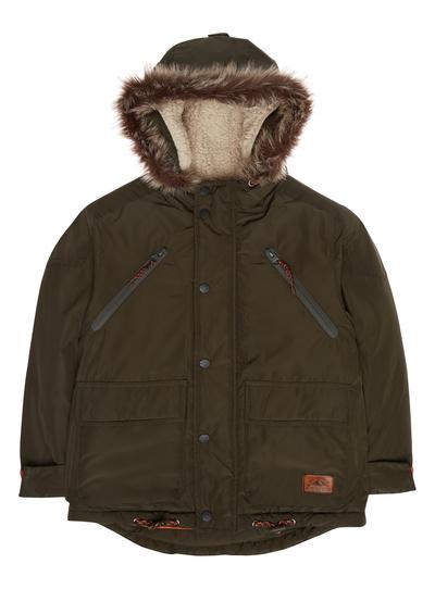 b4d15dee7 Kids Boys Green Fur Lined Parka Jacket (3-12 years)