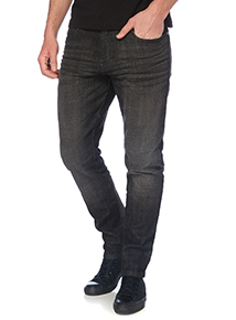 Black Tapered Stretch Jeans