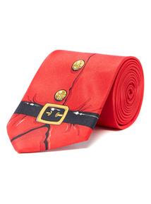 Red Christmas Santa Tie