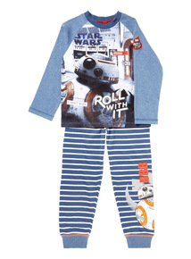 Navy Disney Star Wars Pyjama Set (3-12 years)