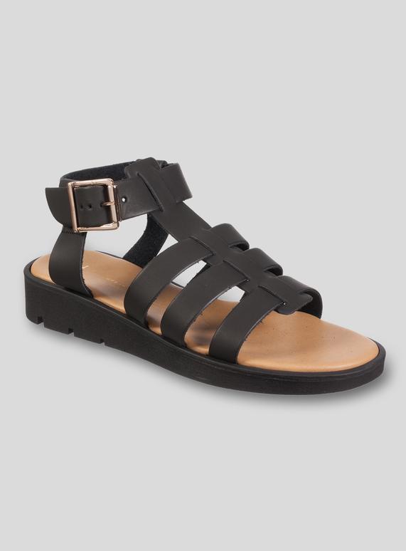 af7e04e44d4 Womens Black Gladiator Sandals