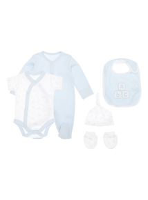5 Piece Blue Starter Set (Tiny Baby - 6 Months)