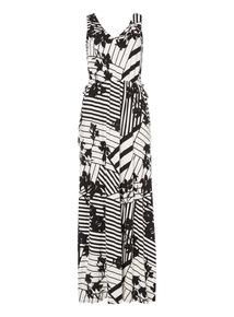 Monochrome Statement Maxi Dress