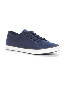 Navy Quilted Cupsole Shoes