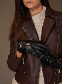 Premium Embroidered Leather Glove