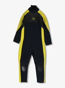 17d1e5bbc6d8 Banana Bite Black & Yellow Long Wetsuit (2-13 years)