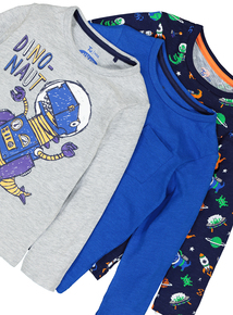 Multicoloured Long Sleeve T-Shirts 3 Pack (9 months - 6 years)