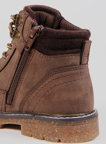 Brown Lace-Up Boots (Infant 10-6)