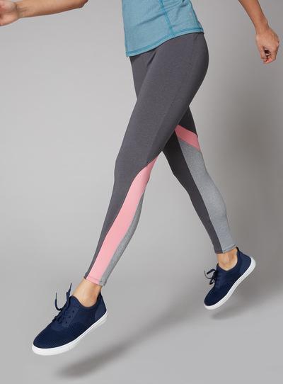 Multicoloured Panelled Legging