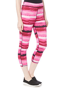Pink Blurred Pattern Leggings