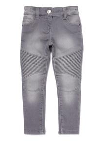 Grey Skinny Biker Jeans (3-14 years)