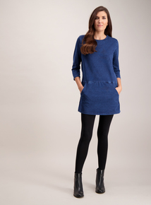 Denim Round Neck Tunic