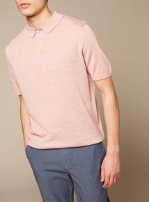 Premium Pink Linen Polo Shirt