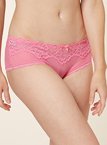 Multicoloured Three Pack Lace Top Short