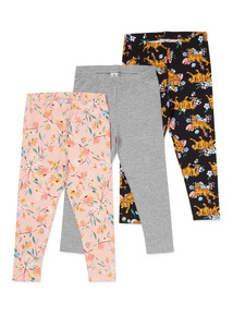 3 Pack Multicoloured Leggings (3-14 years)