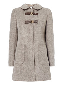 Stone Piped Collar Dolly Coat