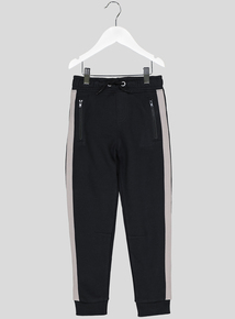 Black Taped Joggers (3-14 Years)