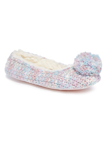 Unicorn Knit Ballerina Slipper