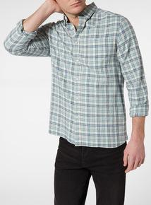 Blue Marl Check Shirt