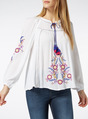 Thumbnail of SKU PLINTH EMBROIDERED PEASANT TOP - G15 Apr:White