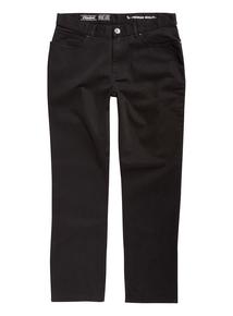 Black Straight Twill Trousers