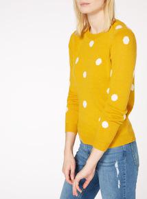 Yellow Spot Intarsia Jumper