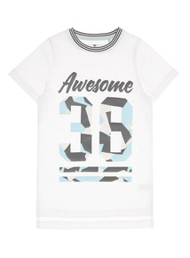 Boys White Awesome Tee (3 - 12 years)