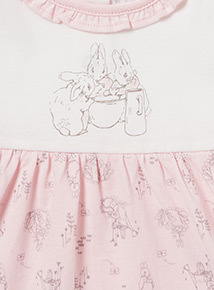 Pink Peter Rabbit Dress (Newborn - 12 months)