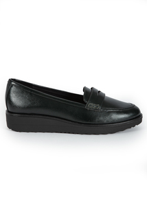 Sole Comfort Black Slip On Loafers