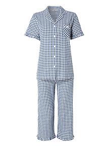 Gingham Short Sleeve Pyjamas
