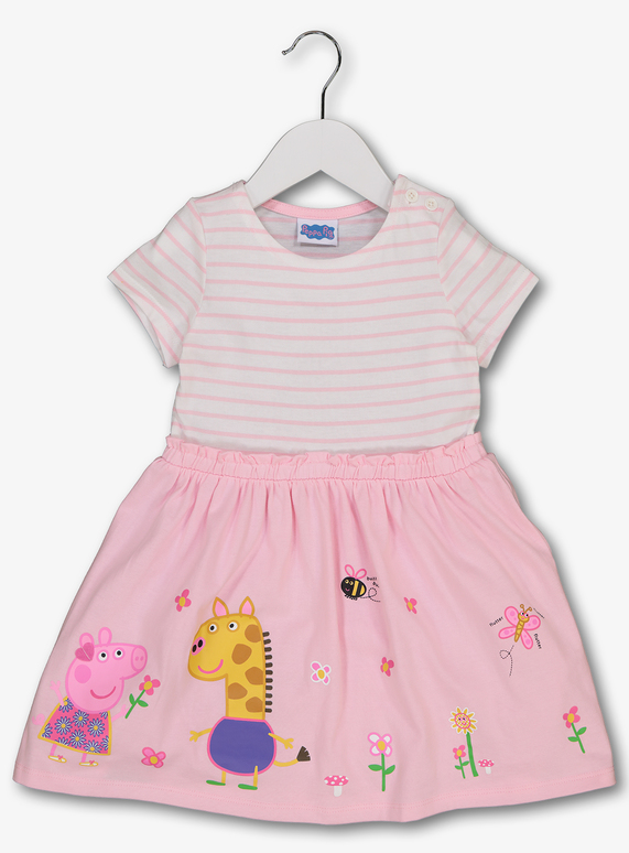 298b19fb6 Baby Peppa Pig Stripe T-Shirt Dress (9 months-6 years) | Tu clothing