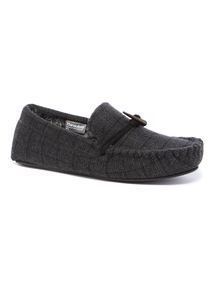 Check Thinsulate Moccasin Slippers