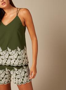 Premium Embroidered Cami Top