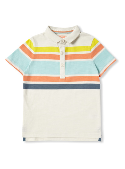 Multicoloured Stripe Polo Shirt (9 months-6 years)