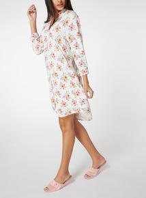 Multicoloured Floral Print Night Shirt